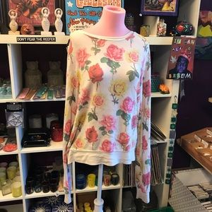 Wildfox bbj small floral baggy jumper sweater